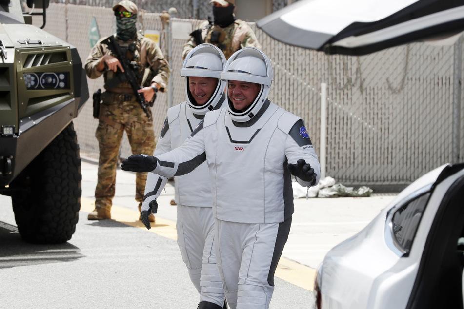 Die NASA-Astronauten Douglas Hurley (li.) und Robert Behnken.