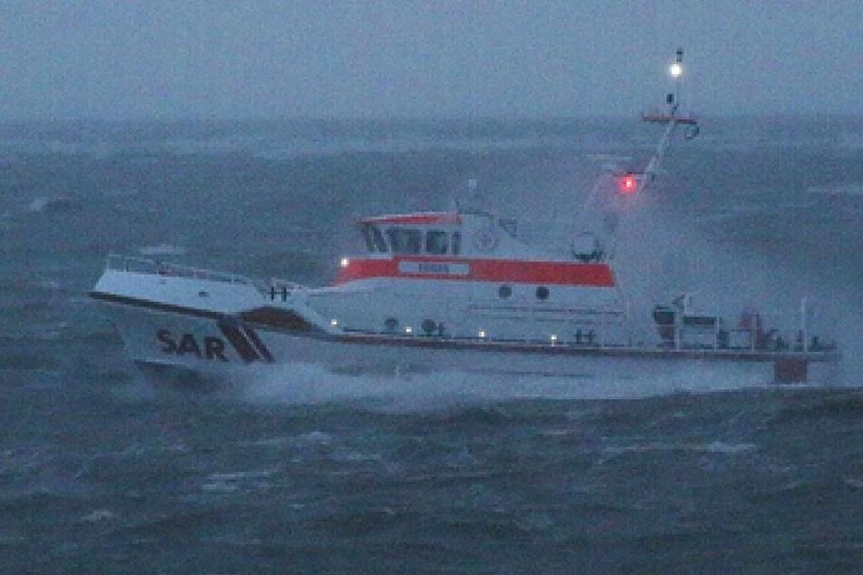 Der Seenotrettungskreuzer Eugen war an der groß angelegten Suche nach den drei Seglern beteiligt.