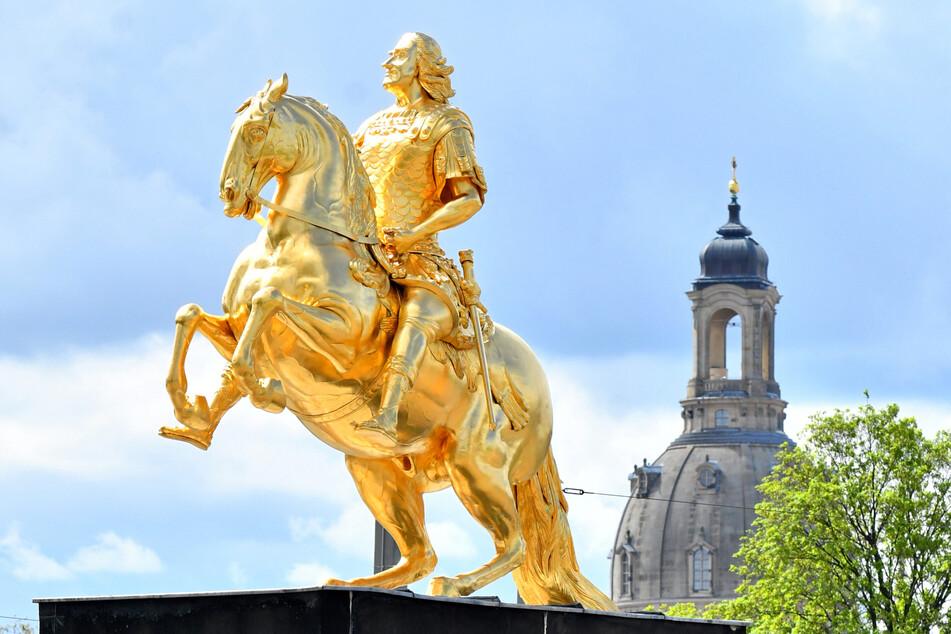 August der Starke: Er ist Dresdens berühmter Goldener Reiter.