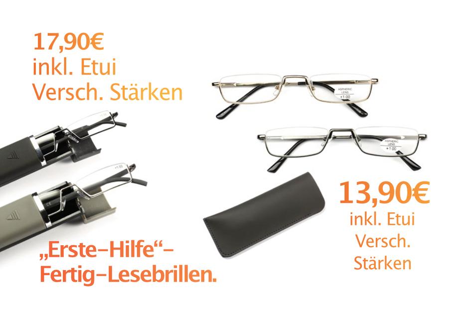 Erste-Hilfe-Fertig Lesebrillen ab 13,90 Euro.