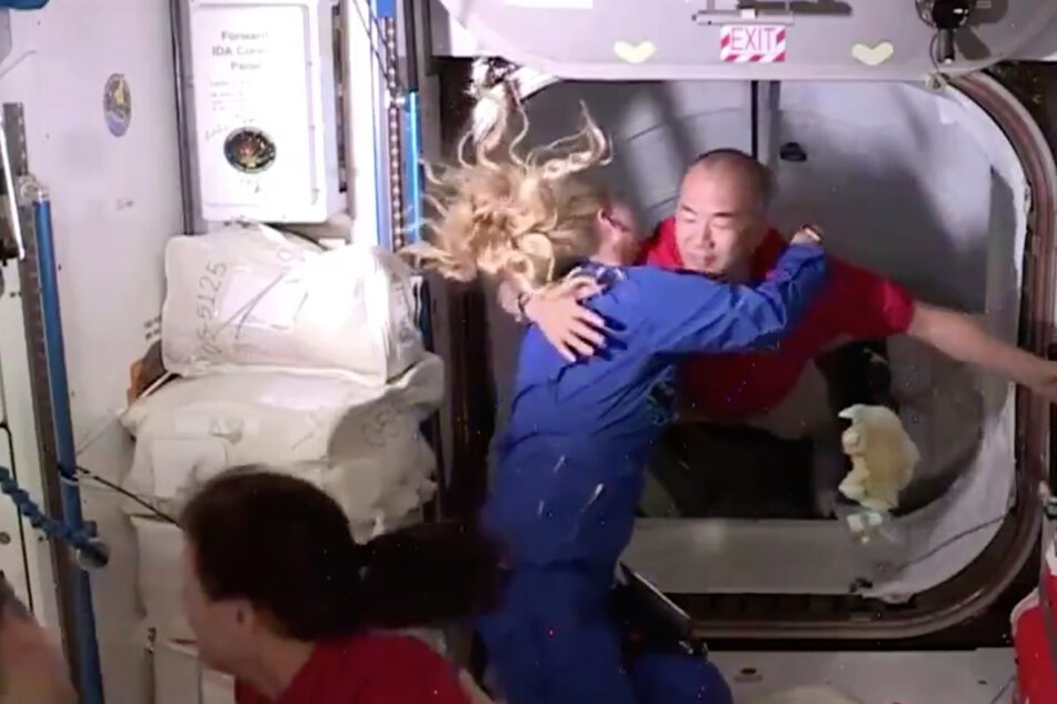 The newest residents arrive on board the space station.