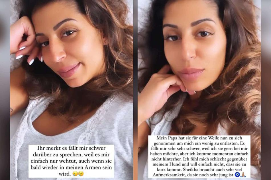 Eva Benetatou (29) verriet ihren Instagram-Fans am Montag, dass sie schweren Herzens ihren Hund abgeben wird.