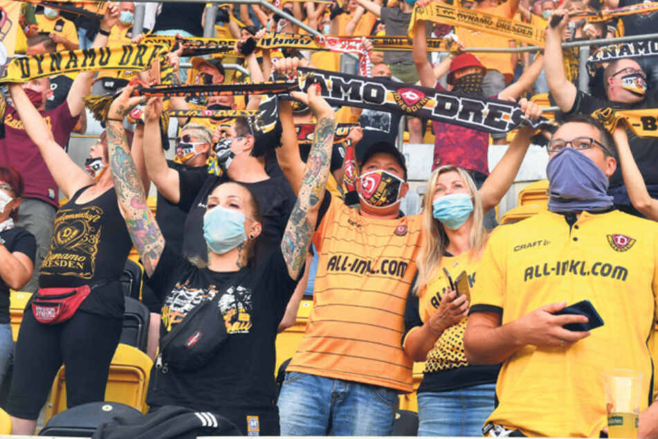 Dürfen etwa bei Dynamo Dresden nun weniger Fans in die Stadien als zuletzt?