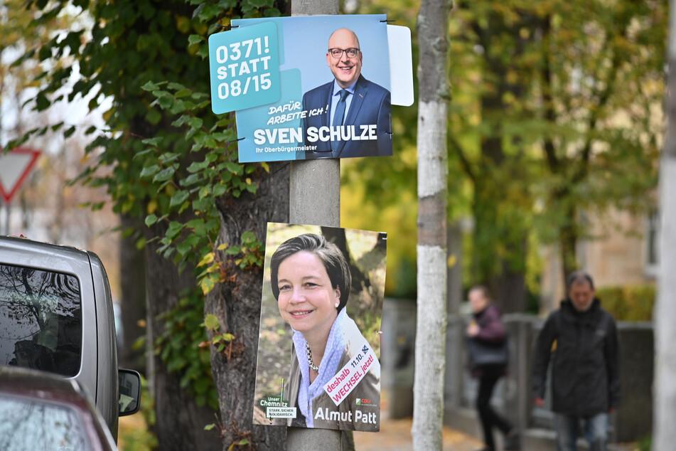 Die OB-Wahl ist schon lange gelaufen, trotzdem hängen vielerorts noch die Plakate, wie hier in der Walther-Oertel-Straße auf dem Kaßberg.