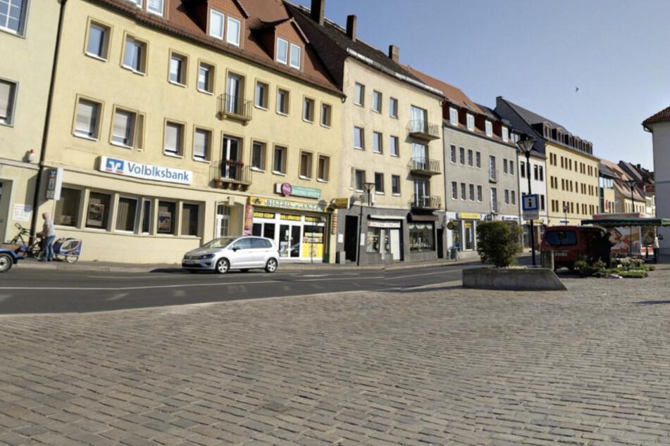 Der Marktplatz in Eilenburg. Eine Querstraße weiter ereignete sich am Freitag ein tödlicher Unfall mit einer Fußgängerin.