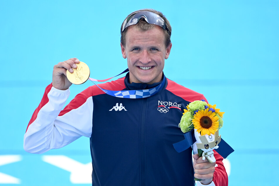 Bei der Siegerehrung sah der 27-jährige Norweger schon wieder deutlich besser aus.