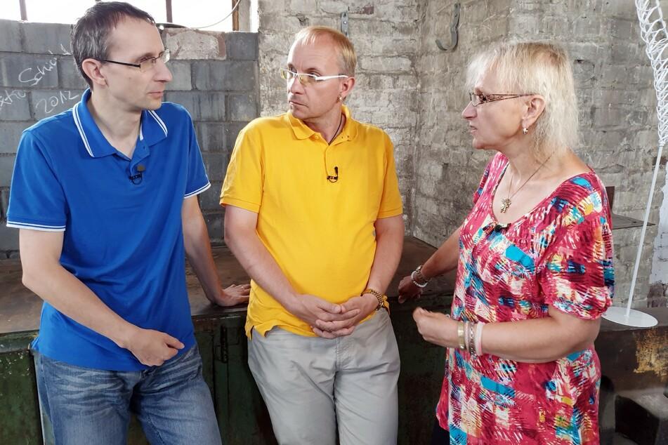 Guido (l.), Bruder Heiko und Mama Sigrid.