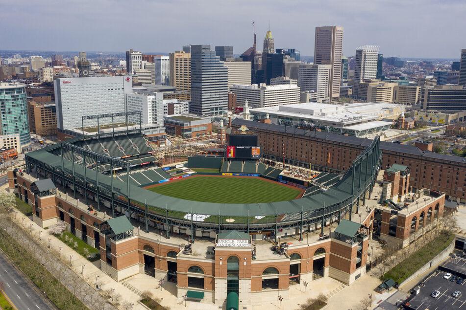 Viele Baseballstadien, wie hier das Baseballstadion Oriole Park bei Camden Yards in Baltimore, in den USA und Kanada werden dieses Jahr leer bleiben.