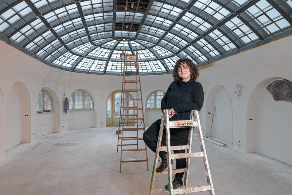 Der Salon von Juliette Beke (40) im Lahmann-Sanatorium kommt ohne Verpackungsmüll aus.