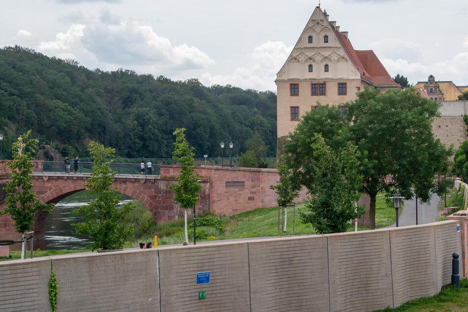 Käme ein Hochwasser, wäre die Stadt Grimma momentan schutzlos.