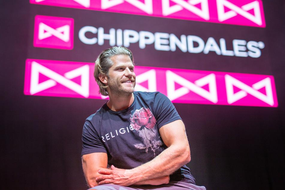 Paul Janke 2018 bei den Chippendales (Foto: Lino Mirgeler/dpa).