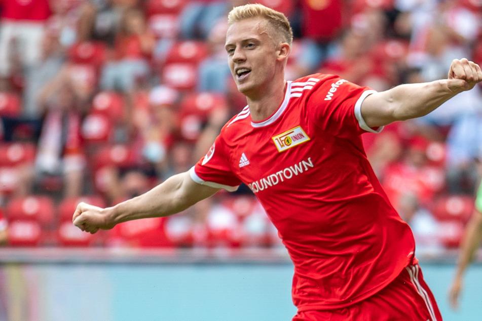 Union-Neuzugang Timo Baumgartl bejubelt seinen Treffer zum 2:1.