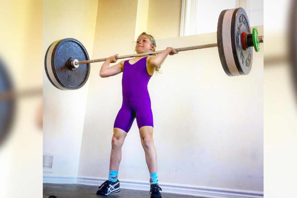 This little girl can deadlift up to 175 pounds!