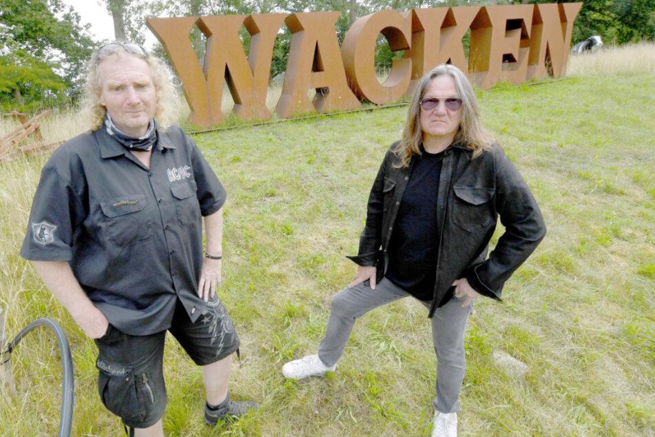 Holger Hübner (links) und Thomas Jensen organisieren das W:O:A.