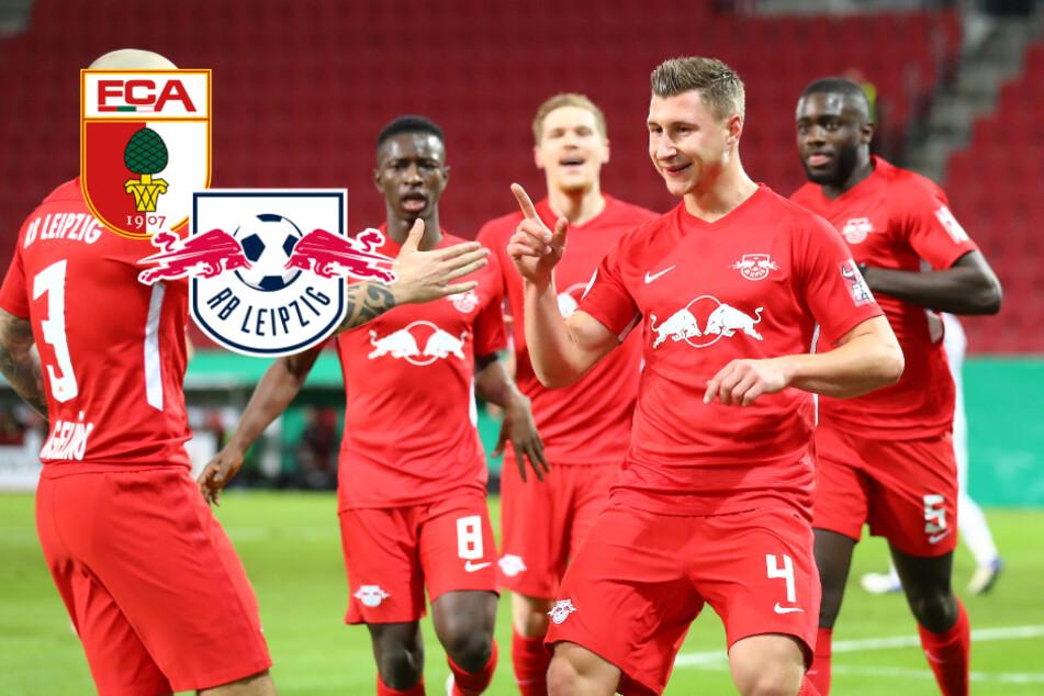 Überlegenes RB Leipzig gewinnt Pokalspiel in Augsburg und steht im Achtelfinale