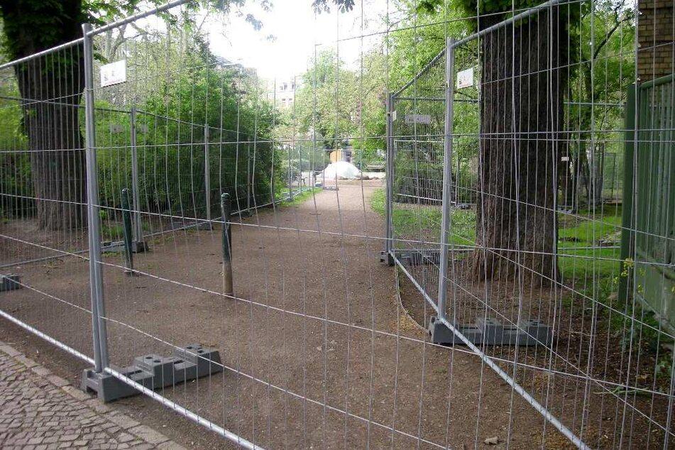 2015 erfolgte die erste Abtrennung von Schule und Weißeplatz. Hier stand die über hundertjährige Schule kurz vor der Sanierung und Erweiterung.