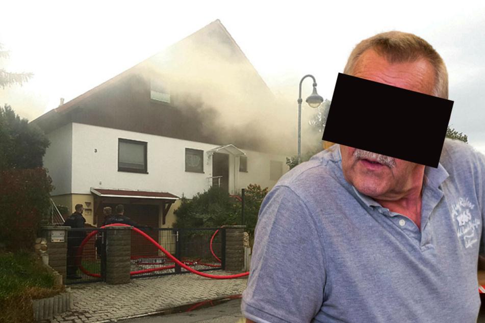 Zündete Leipziger Klempner (61) Haus mit Schwiegermutter an?