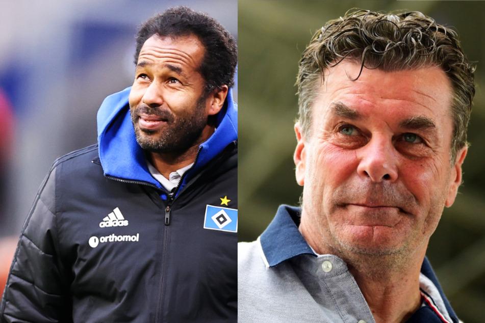 Ex-HSV-Trainer Dieter Hecking (56, r.) hat lobende Worte für seinen Nachfolger Daniel Thioune (46).
