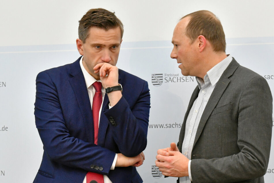 Vorzeige-Projekt in Gefahr: Martin Dulig (46, SPD, l.)