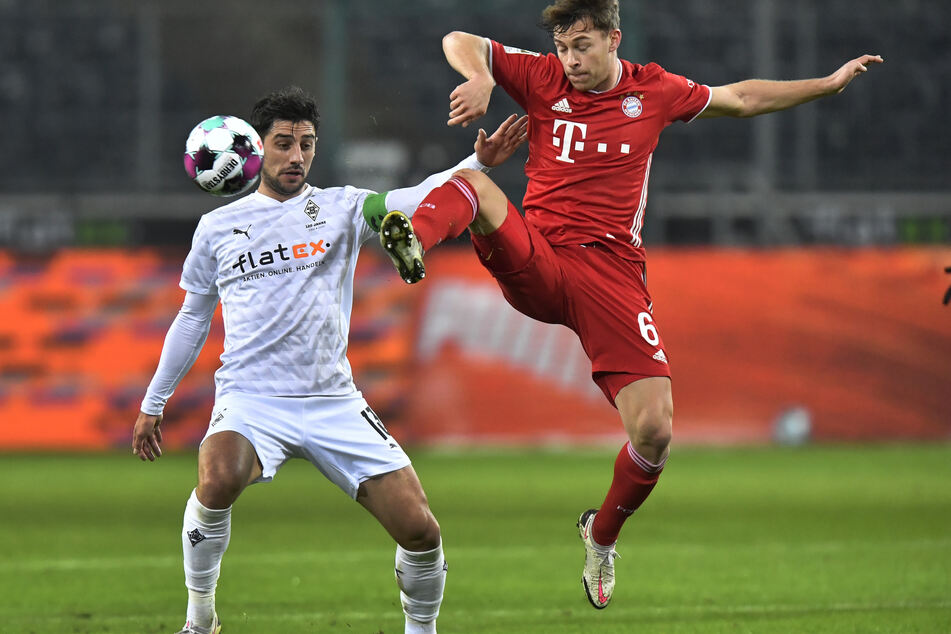 Lars Stindl (l.) von Borussia Mönchengladbach stellte gegen den FC Bayern München ein ums andere Mal ein feines Auge unter Beweis.