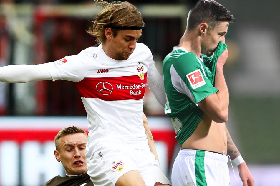 Borna Sosa (23, M.) vom VfB Stuttgart und Marco Friedl (22, r.) von Werder Bremen könnten wohl schon bald im Trikot des FC Bayern spielen.