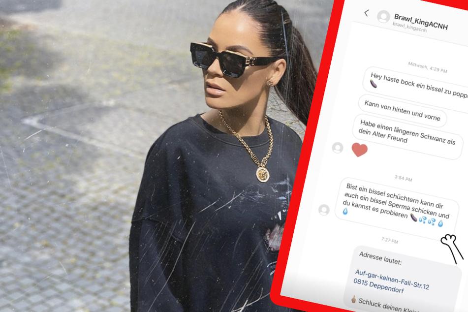 """""""Kannst mein Sperma probieren"""": Janine Pink bekommt weiter Ekel-Nachrichten"""