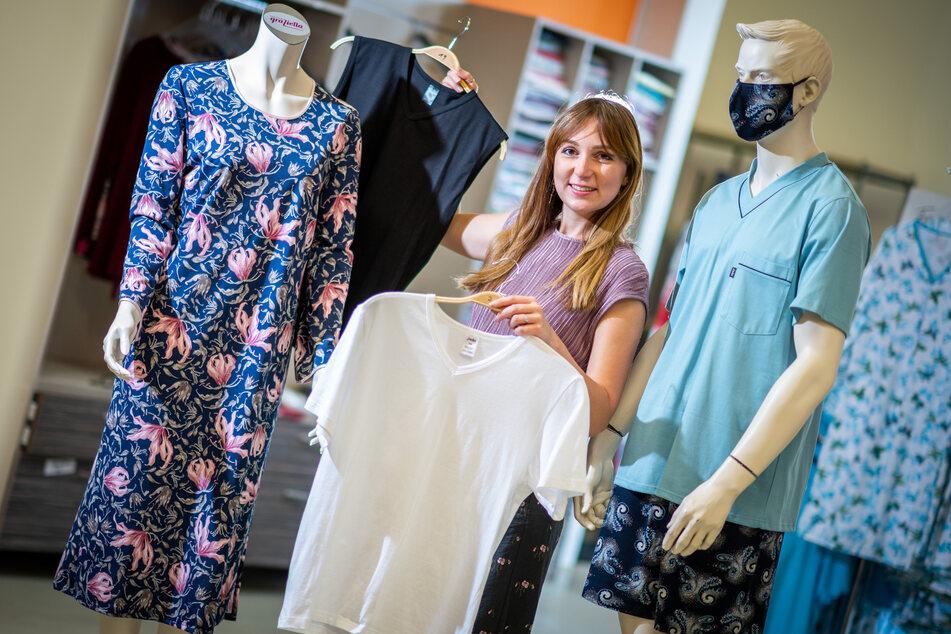 """Modedesignerin Sara Linke (28) präsentiert ihre regional produzierte Mode - bald auch in der Zwickauer """"Box""""."""