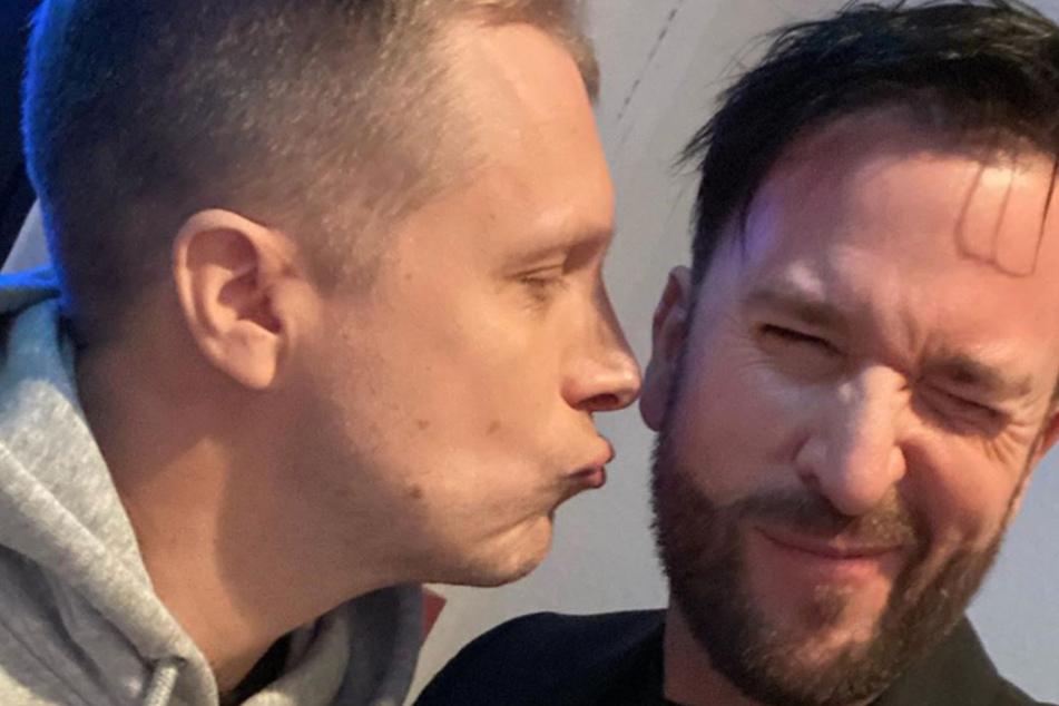 Oliver Pocher (42) und Michael Wendler (47) scheinen sich inzwischen sehr gut zu verstehen.