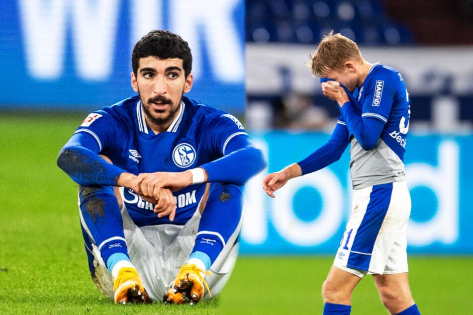 Nassim Boujellab (21, l.) und Timo Becker (23) hatten an der Pleite sichtlich zu knabbern.