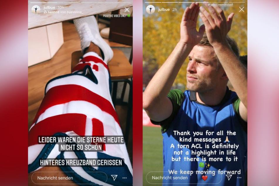 Fußballer Julian Büscher (27) hat sich das hintere Kreuzband gerissen.