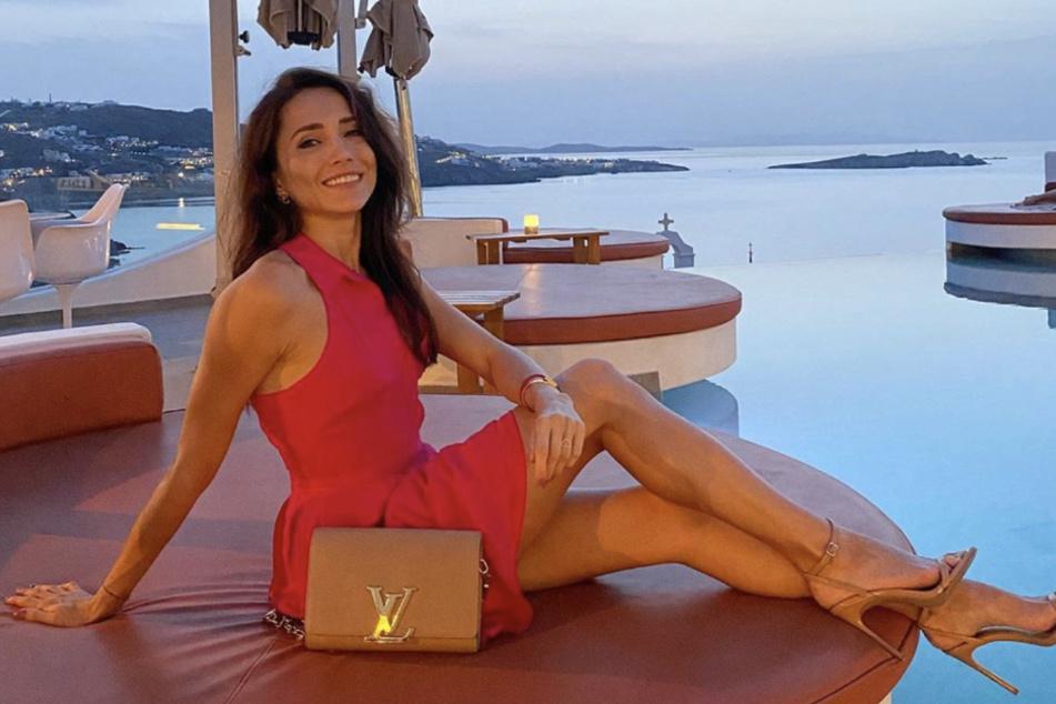 Sie weiß sich zu präsentieren: Anastasiya in Mykonos.
