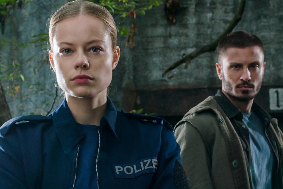 """Emma Bading (22) und Jannik Schümann (28) im neuen ZDF-Krimi-Event """"Westwall""""."""