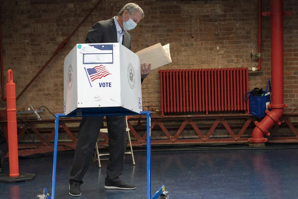 Bill de Blasio, Bürgermeister von New York, warnt vor einer zweiten Corona-Welle.