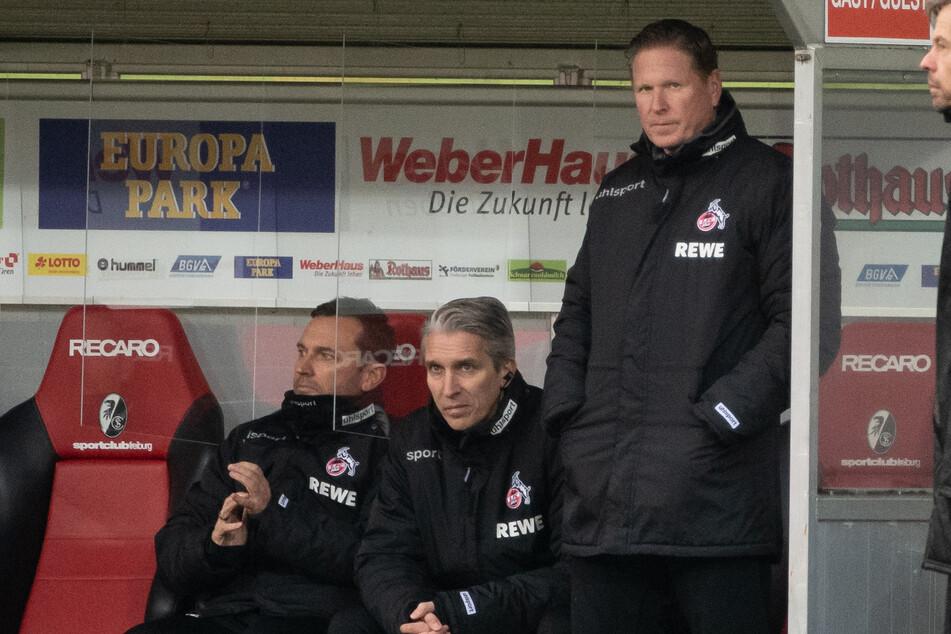 Markus Gisdol (rechts), Trainer des 1. FC Köln.