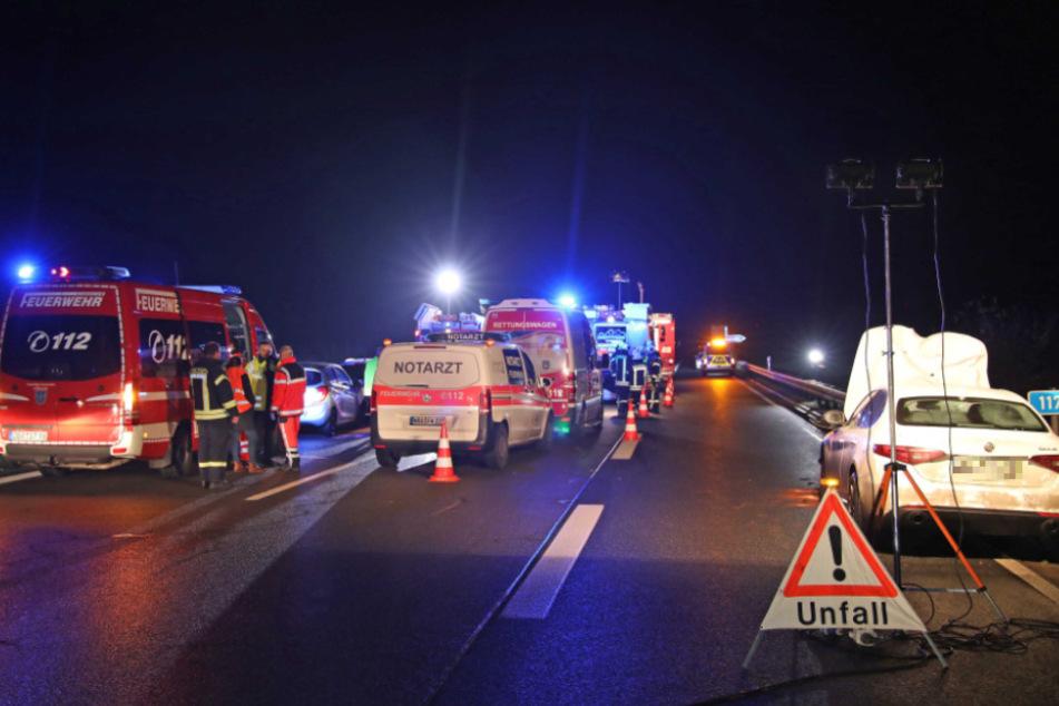 An dem Unfall waren insgesamt vier Fahrzeuge beteiligt.