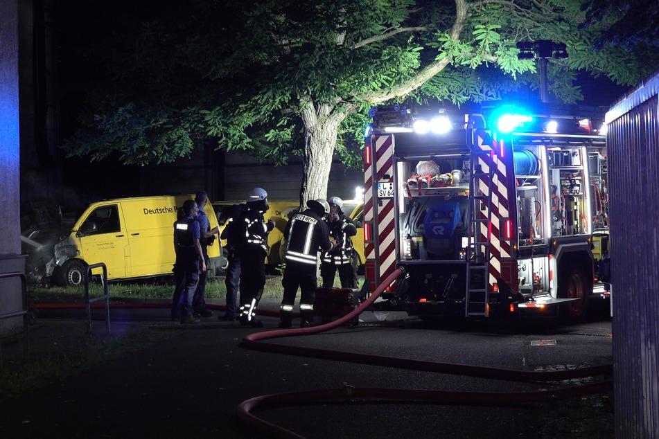 Gegen 1.30 Uhr wurde die Feuerwehr in die Leipziger Lilienstraße alarmiert.