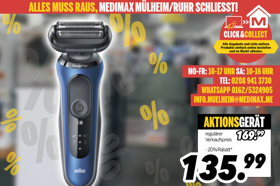 Herrenrasierer von Braun für 135,99 Euro