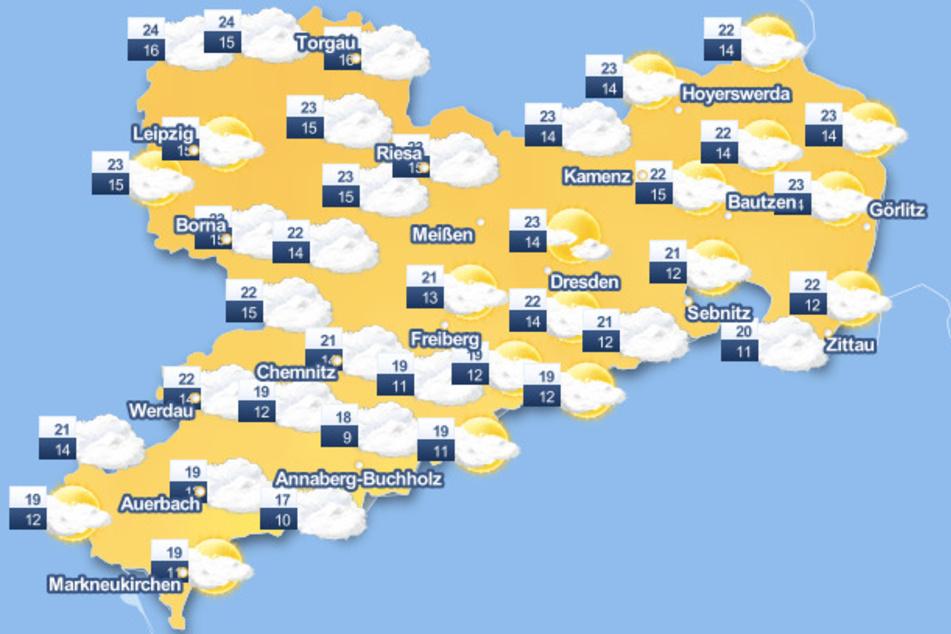 Es wird kühler in Sachsen.