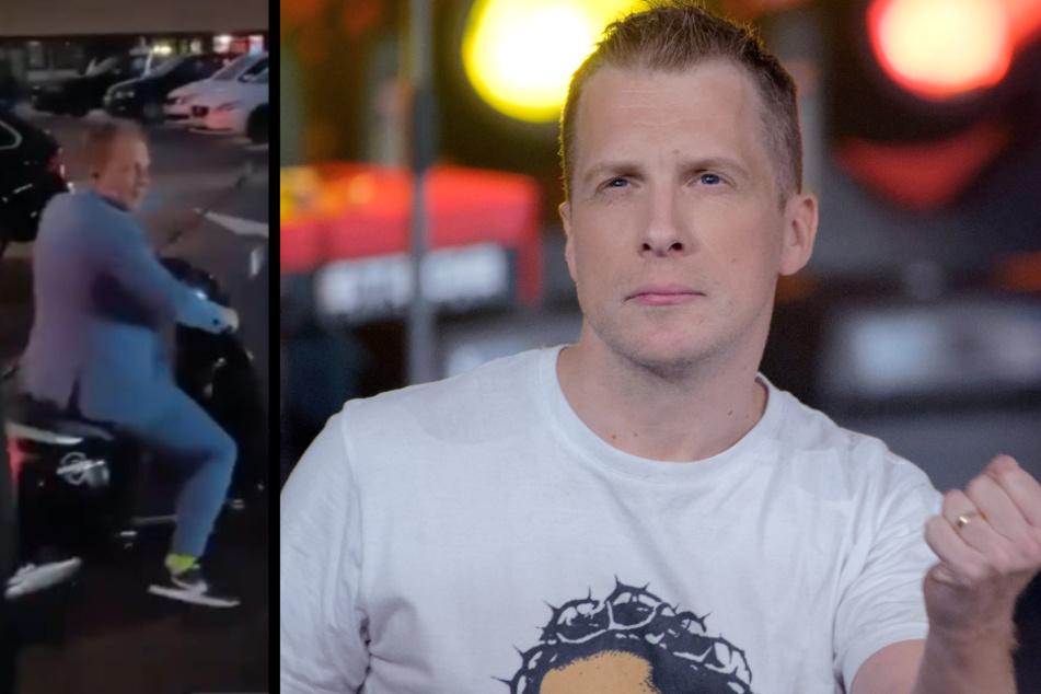 Achtung, Unfallgefahr: Oliver Pocher bei Live-Show auf Abwegen