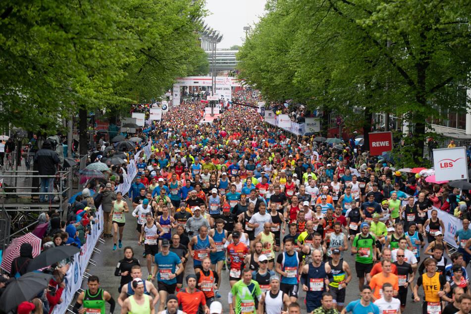 Läufer beim 34. Hamburg Marathon 2019. Auch in diesem Jahr soll der Marathon über die Bühne gehen.