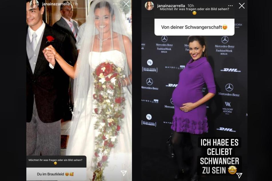 Jana Ina Zarrella (44) zeigte ihren Fans am Sonntag private Aufnahmen. Sie gab einen Rücklblick auf ihren Hochzeitstag und zeigte ein Bild ihres kugelrunden Schwangerschaftsbauchs.