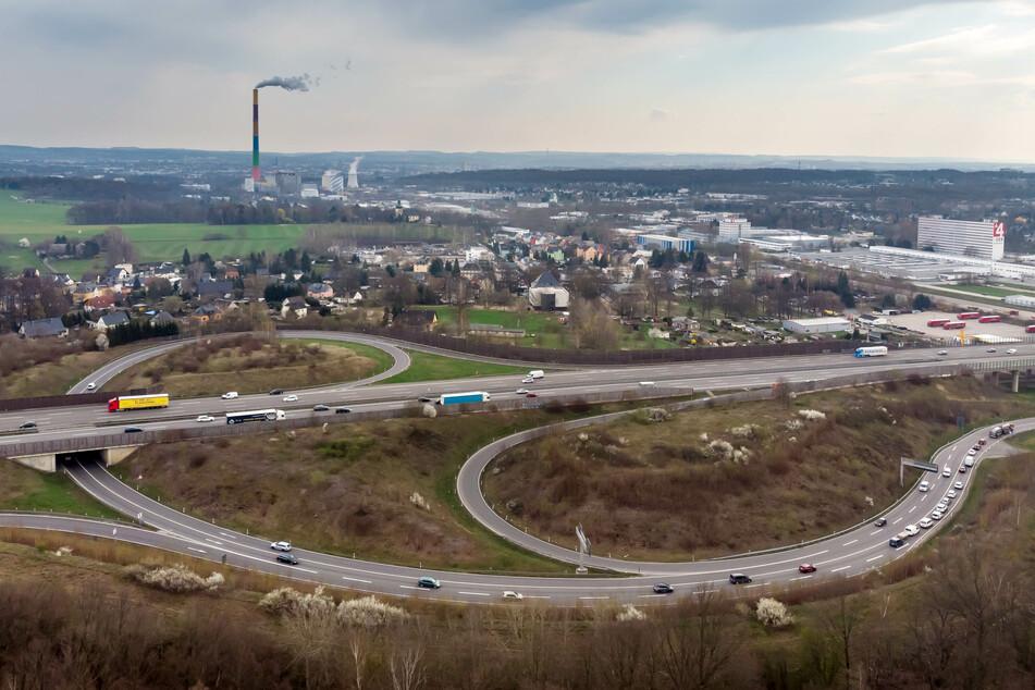 """Die A4 wird am Samstagabend zwischen den Anschlussstellen """"Chemnitz-Glösa"""" (im Bild) und """"Chemnitz-Ost"""" kurzzeitig gesperrt."""