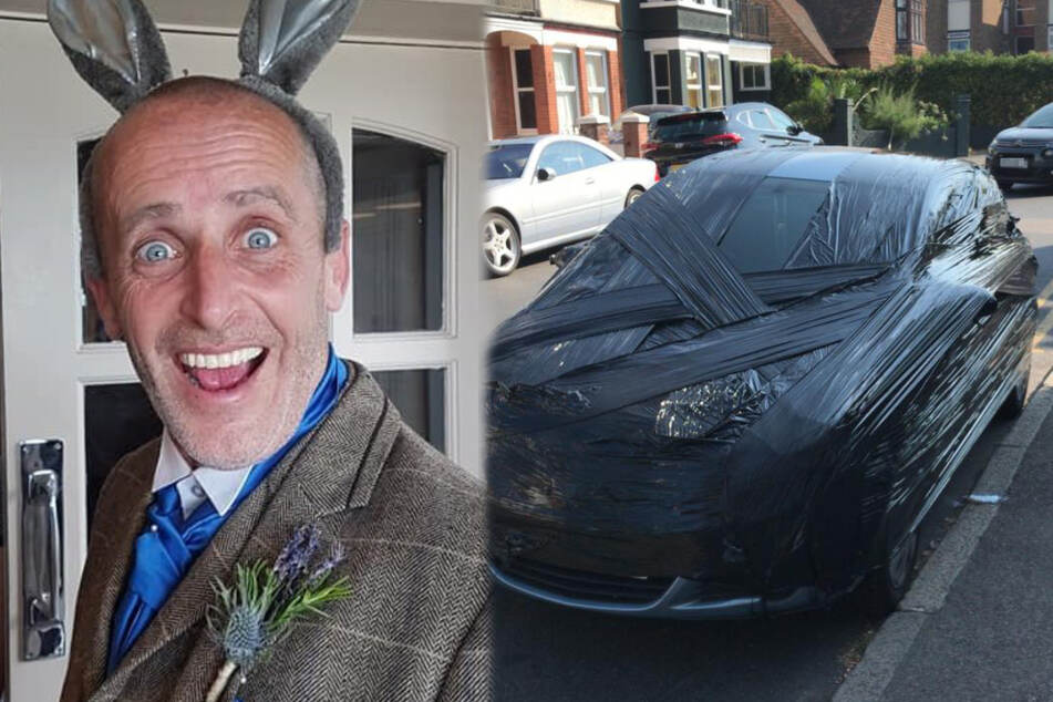 49-year-old Tobe Bailey fights parking violations in his own unique way (collage)