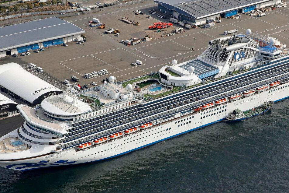 """Das Kreuzfahrtschiff """"Diamond Princess"""" liegt im Hafen von Yokohama. (Archivbild)"""