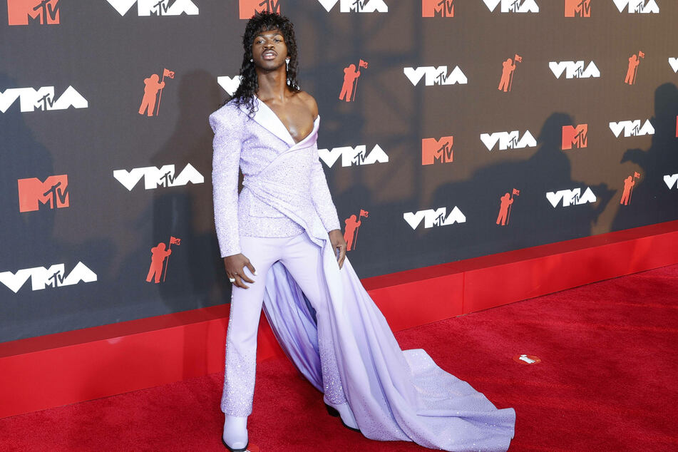 Lil Nas X (22) arrives on the red carpet at the 38th annual MTV Video Music Awards at the Barclays Center in New York City.