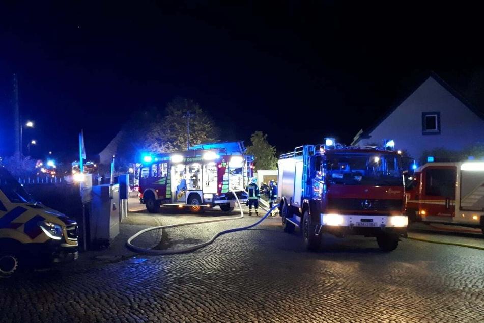Mehrere Löschzüge waren am Samstagabend in Häslich im Einsatz.