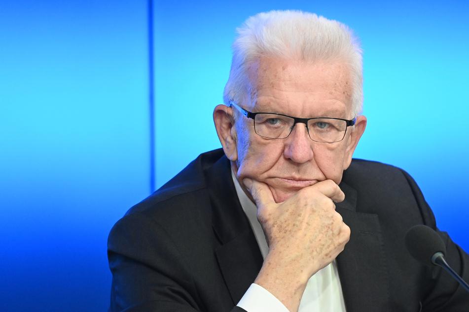 Winfried Kretschmann (73, Bündnis 90/Die Grünen), Ministerpräsident von Baden-Württemberg.