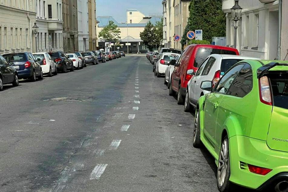 Huch! Wie kommt denn der Fahrradstreifen in die Gießerstraße?