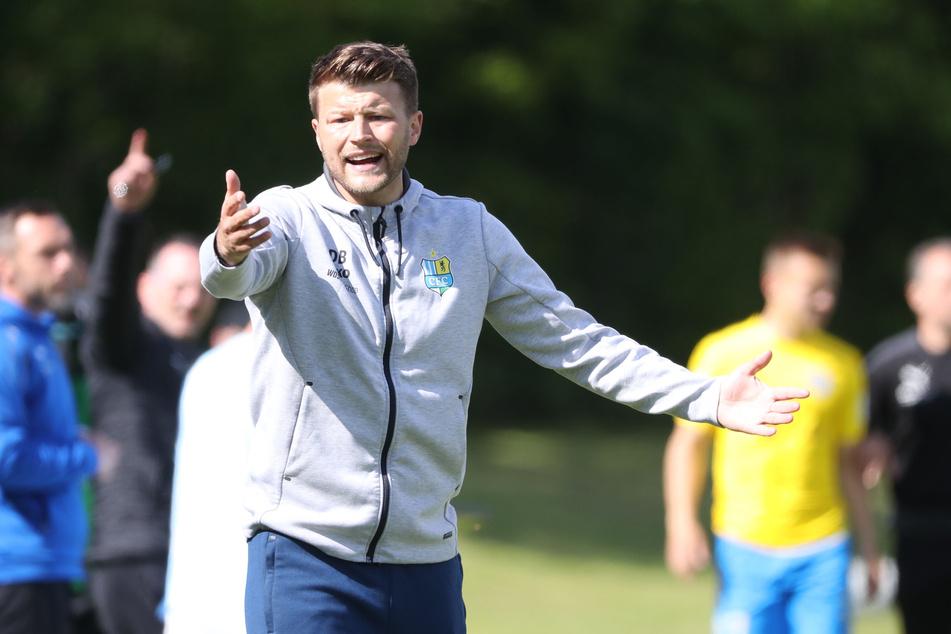 CFC-Coach Daniel Berlinski (35) hatte auf den himmelblauen Sachsenpokal-Sieg gehofft - doch daraus wurde nichts.