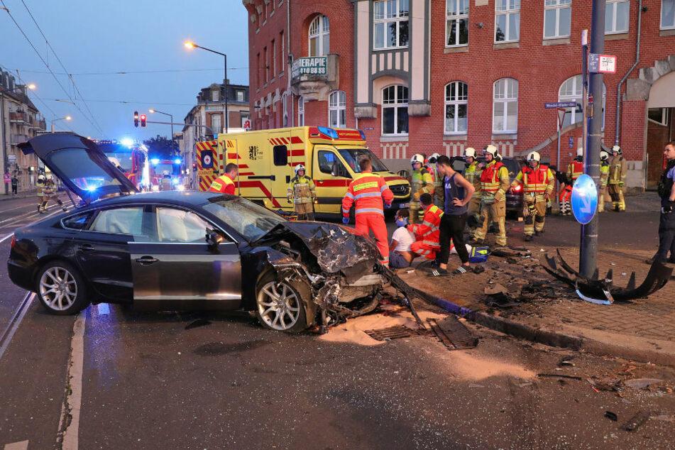 An dem beteiligten Audi entstand ein Totalschaden.